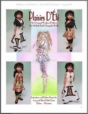 """Plaisirs D'Été"" Fashion Pattern for 14"" Kish Chrysalis"