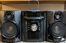 Sharp CD-DH950P Home Theater Bookshelf System Black Tested & Working!