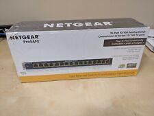 * Netgear ProSafe 16-Port Ethernet Network Switch Fs116 - New & Sealed