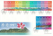 China Hong Kong 1997 Skyline full set Definitive stamps FDC (junk postmark)