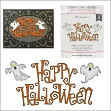 Happy Haunts metal Die set Cheery Lynn Cutting Dies B905 Halloween ghosts words