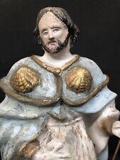 Statue de Saint Roch polychrome XIXe 19eme religieux