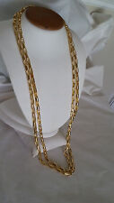 "1AR by UnoAerre - 18KT Gold Plated Long Polished Anchor Link Chain Necklace 60""L"
