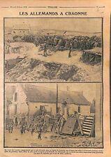 Feldgrau Deutsches Heer Redoute Région de Craonne Bataille de l'Aisne WWI 1915