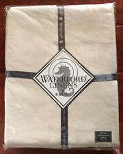 "Waterford ADDISON Tablecloth 70"" x 84"" CREAM Linen OBLONG Seats 8 MSRP $150 NWT"