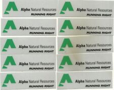 """10 Alpha Natural Resources Coal Co -Hard Hat-Coal Mining Sticker-Decal """"Nice"""""""
