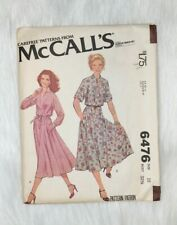 Mccalls Vintage Sewing Pattern 6476 Retro Clothing 1970s