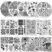 UR SUGAR Nail Art Stamping Plates Flowers Easter April Fool's Day Image Template