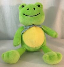 Animal Adventure Checked Ribbon Super Soft Plush Green Frog