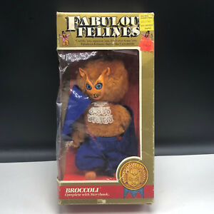 Fabulous Felines Mego Action Figure 1983 Phoenix toys cat plush Broccoli blue