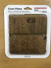Cover Plates Kisekae plate No.024 (wood grain) Nintendo 3DS Game Case