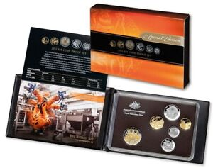 2012 Royal Australian Mint Six Coin Proof Set - Gold Plated $1 Coin