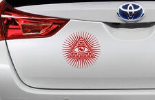 Tutti vedono Eye PIRAMIDE Auto Paraurti Decalcomania Adesivi 10cm x 10cm