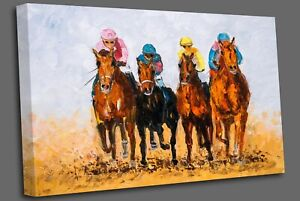 Oil Painting - Horse Racing Wall Art Picture Print