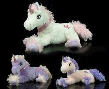 niedliches XL Plüsch EINHORN lila rosa 45 cm Stofftier Kuscheltier Pferd Pony