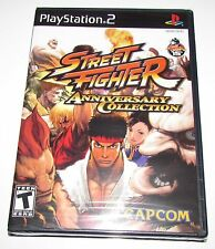 Street Fighter Anniversary Collection Playstation 2 Brand New, Factory Sealed!