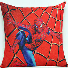 New Red Spider-Man Children Boys Kids Linen Throw Pillow Case cushion cover YSC2