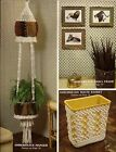 Macrame Plant Hanger, Waste Basket  Picture Frame - Craft Book: AC1 Accents
