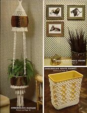 Macrame Plant Hanger, Waste Basket & Picture Frame - Craft Book: #AC1 Accents