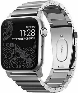 Nomad Titanium Band for Apple Watch 44mm/42mm   Silver Hardware