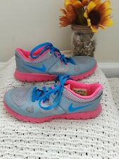 Nike 2014 Flex Running Shoes Sz 1.5 Y girl pink amd blue  642758-002