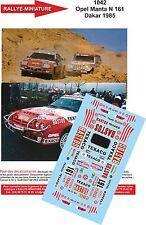 DÉCALS 1/18 réf 1042 Opel Manta N 161 Dakar 1985