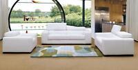 Moderne Multifunktions Couch Sofa Polster Garnitur 3+2+1 Sitz Leder Set Couchen
