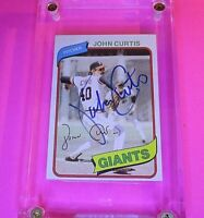 AUTOGRAPH 1980 Topps #12 John Curtis Giants, SIGNED Baseball card auto