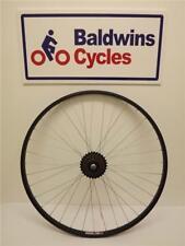 700c REAR Hybrid Bike / Cycle Wheel BLACK Alloy Rim + 5 SPEED FREEWHEEL