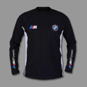 BMW M Power T-shirt manche longue chemise Broderie FABRIQUÉ EN EUROPE XS - 6XL