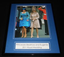 Princess Beatrice & Eugenie 2011 Royal Wedding Framed 11x14 Photo Display