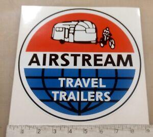 "Vintage Airstream LARGE trailer RV sticker decal 9"" diameter"
