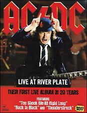 AC/DC Angus Young 2012 Live at River Plate ad 8 x 11 advertisement print 2B