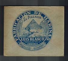 1938 Zaragoza Spain Advertising Cover to San Sebastian Luis Blanco Harina