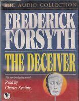 Frederick Forsyth The Deceiver 4 Cassette Audio Book Spy Thriller FASTPOST
