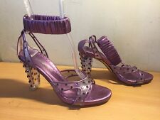 Ysl Purple 36,5 Transparent Heels, With Crystals, Cruise,Party, Fab!