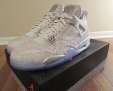Nike Air Jordan 4 Retro Laser IV Size 11.5 White Chrome Silver 705333 105 NIB