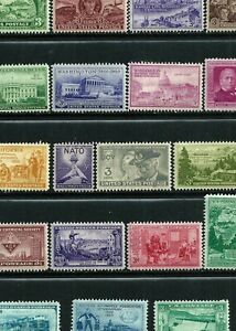 179 Mint Hinged Stamps - USA 1950-1965