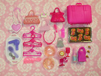 Mattel Barbie Doll Accessory LOT ACCESSORIES PURSES DISHES KITCHEN Dream House
