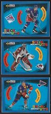 1997 Upper Deck Hockey STICK-UMPS Gretzky/Roy/Hull 3 Card Insert Lot