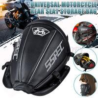 Universal Motorcycle Rear Seat Bag Back Tail Helmet Bag Extended  Luggage Bag US