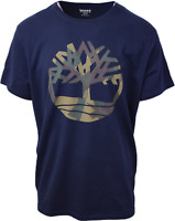 Timberland Men's Navy Blue Camo Tree S/S Tee (Retail $35) S04