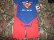 NEW! SUPERMAN FUTURE HERO 2 PC SET SNAP ROMPER &  PANTS INFANT 6/9 MO. NWT (B34)