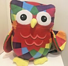 COLOURFUL OWL THE BIG HOOT TOY PLUSH LARGE 24cm TAGS STILL ATTACHED  FREE POST