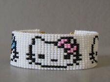 Hello Kitty Gorgeous Hand Woven Seed Bead Bracelet / Cuff Stunning Gift!!!