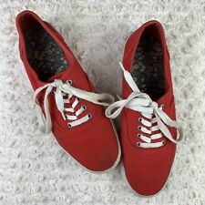 Mossimo Supply Company Red Casual Lace Up Shoes Womens Size 10