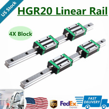 2Pcs Hgr20 200mm-1700mm Linear Guide Rail + 4Pcs Hgh20Ca Slider Block For Cnc Us