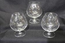 Set of 3 Riedel Crystal Vinum Brandy Snifter or Congac Glasses, Etched on Base