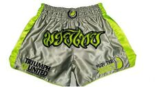 Muay Thai Addict Triumph United Short Grey/Yellow Extra Large