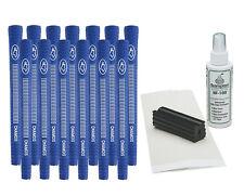 "13 Blue Avon Chamois .580"" Ribbed Golf Grips - Free Grip Kit"